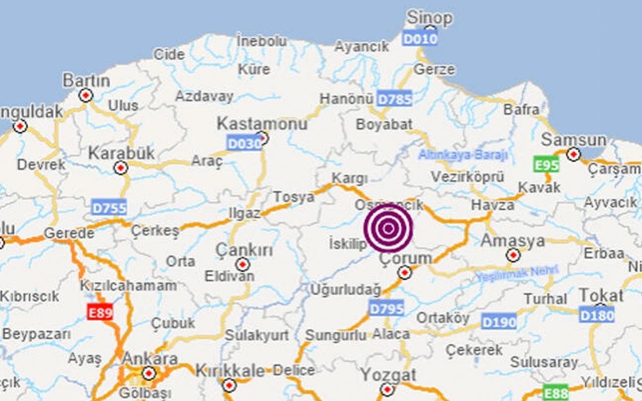 Çorum'da korkutan deprem! Kandilli Rasathanesi'nden açıklama