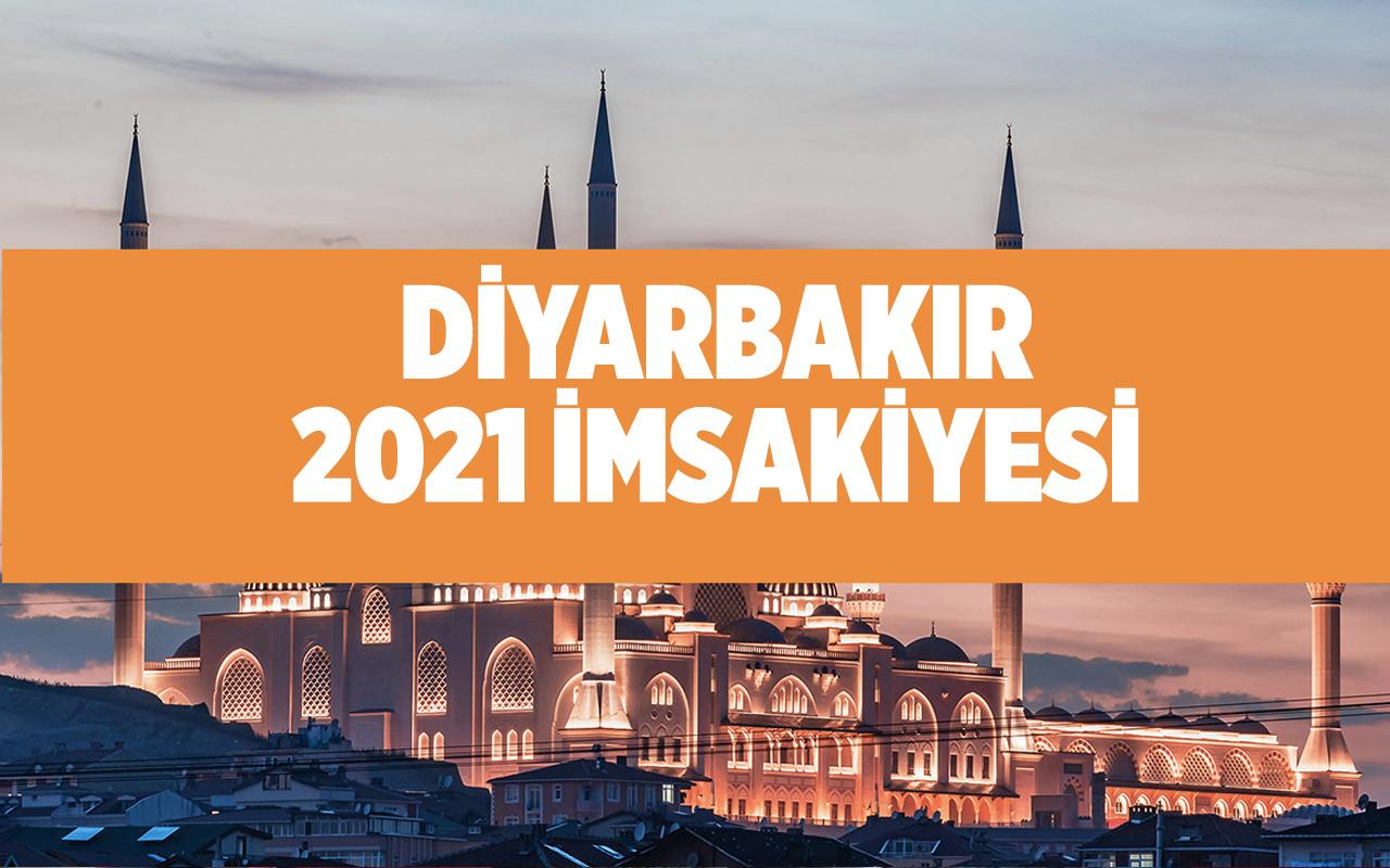Diyarbakır sahur vakti 2021 Diyanet imsak kaçta başlıyor Diyarbakır imsakiyesi