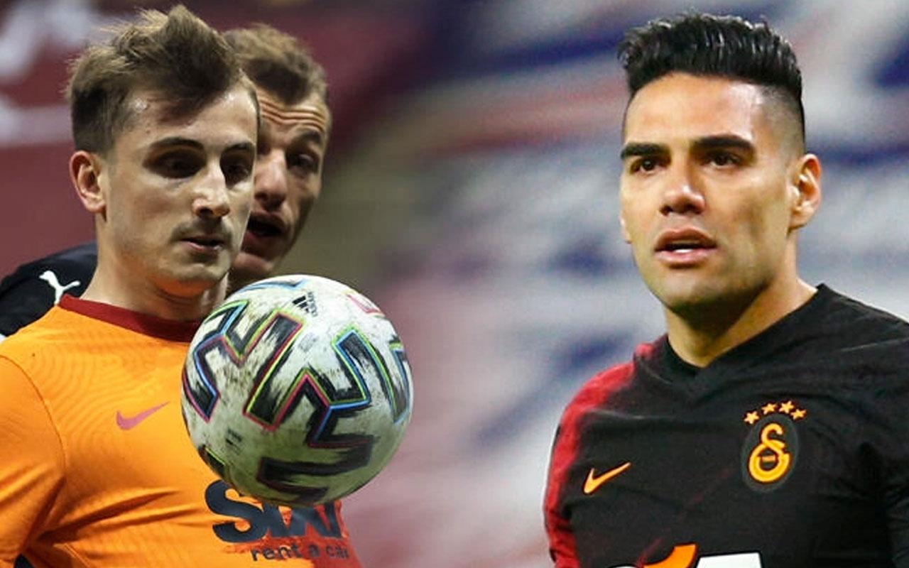 Galatasaray'da Falcao ile Kerem kafa kafaya çarpıştı kırık var