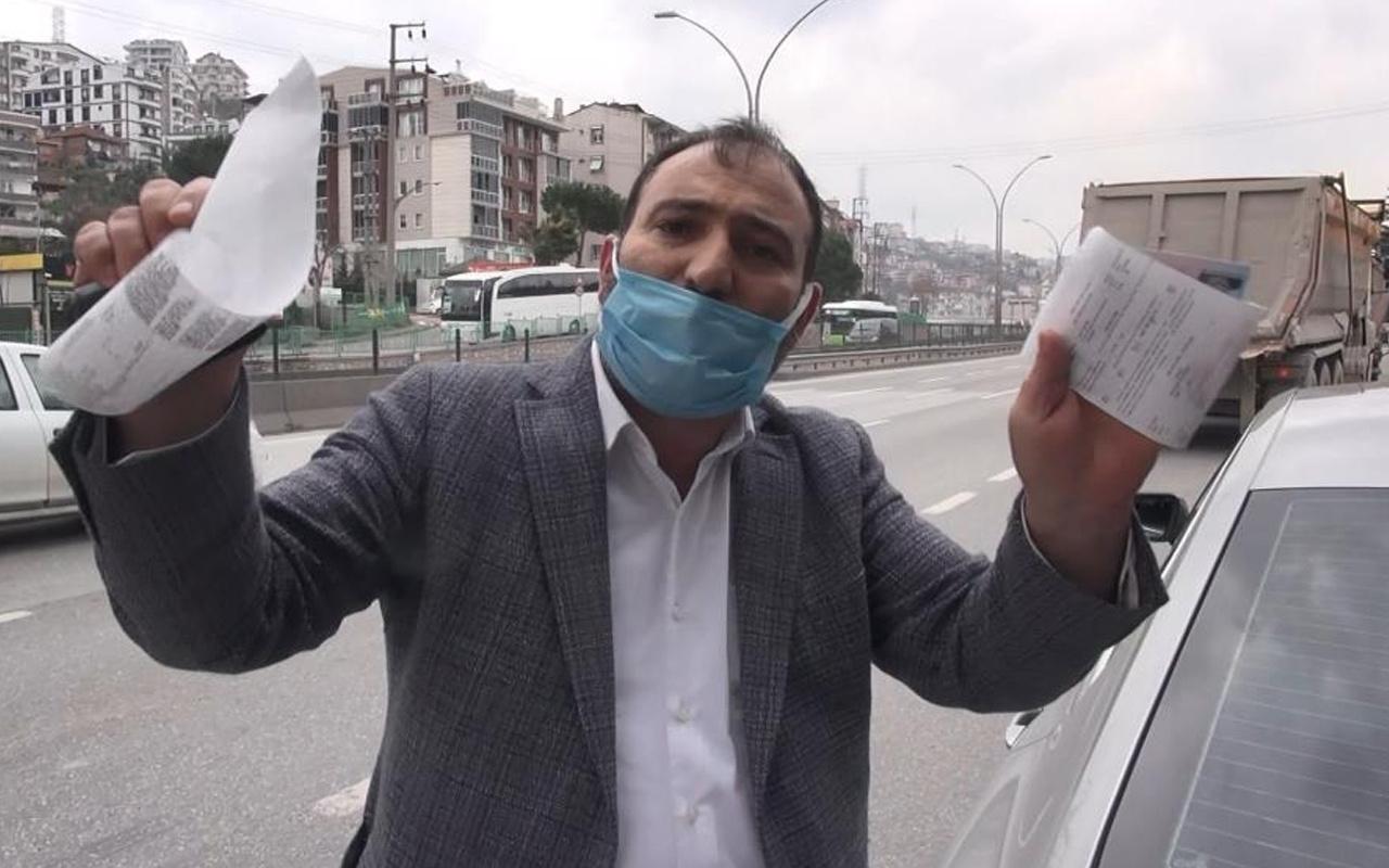 Kocaeli'de trafikte polis ekiplerine yakalandı! Savunması pes dedirtti
