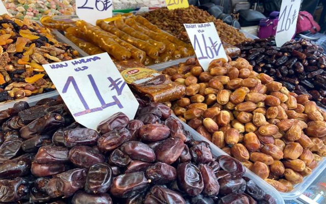Ramazan öncesi hurman satışları arttı! Fiyatı  14 TL ila 80 TL arasında değişiyor