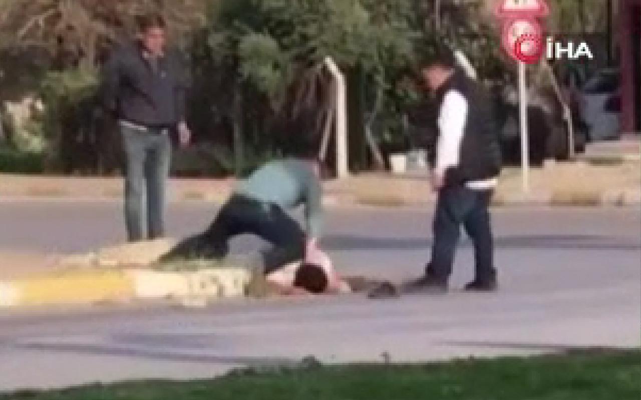 Antalya'da sokak ortasında genci öldüresiye dövdüler! İşte o anlar...
