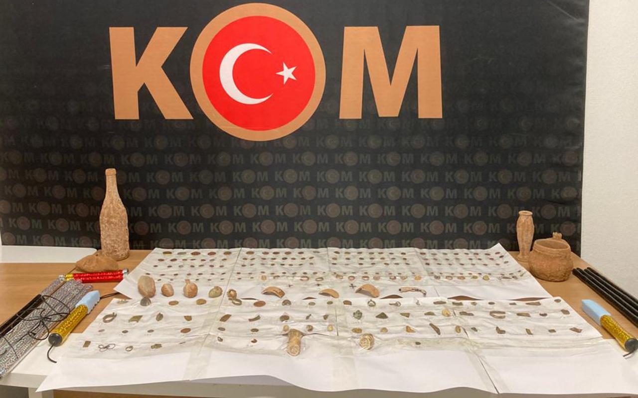 Antalya'da tarihi eser operasyonunda şaşkına çeviren savunma