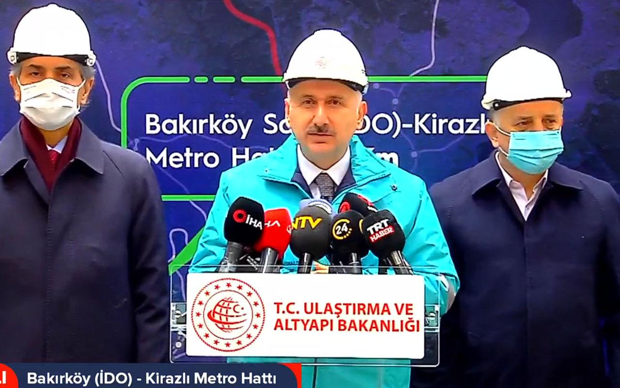 Bakan Adil Karaismailoğlu duyurdu: Bahçelievler-Kirazlı metro hattı 2022 sonunda açılıyor