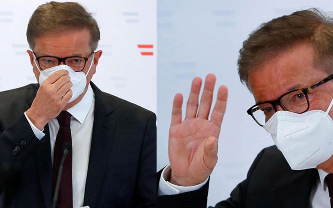 Sağlık Bakanı ağlaya ağlaya istifa etti! Avusturya'da büyük şok 'dayanamıyorum'