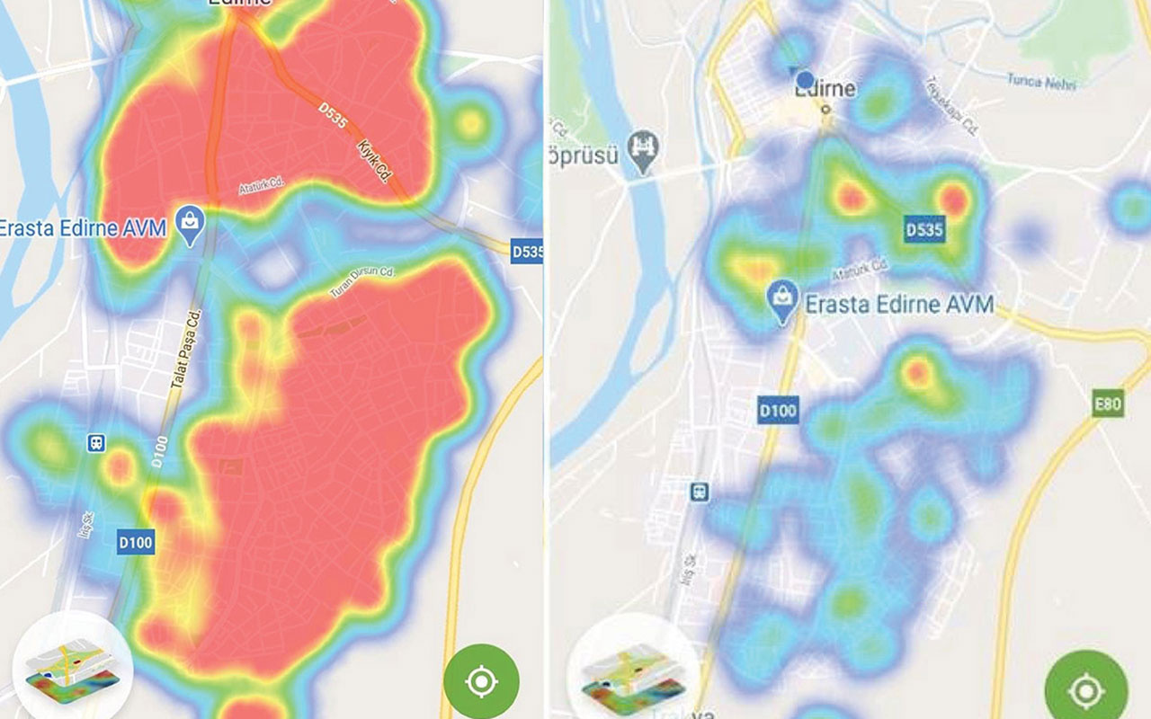 Edirne'de vaka oranı 8 kat arttı, harita tamamen kırmızıya döndü