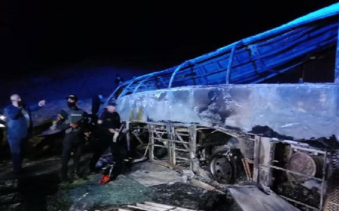 Mısır'da yolcu otobüsü devrildi! 20 kişi hayatını kaybetti