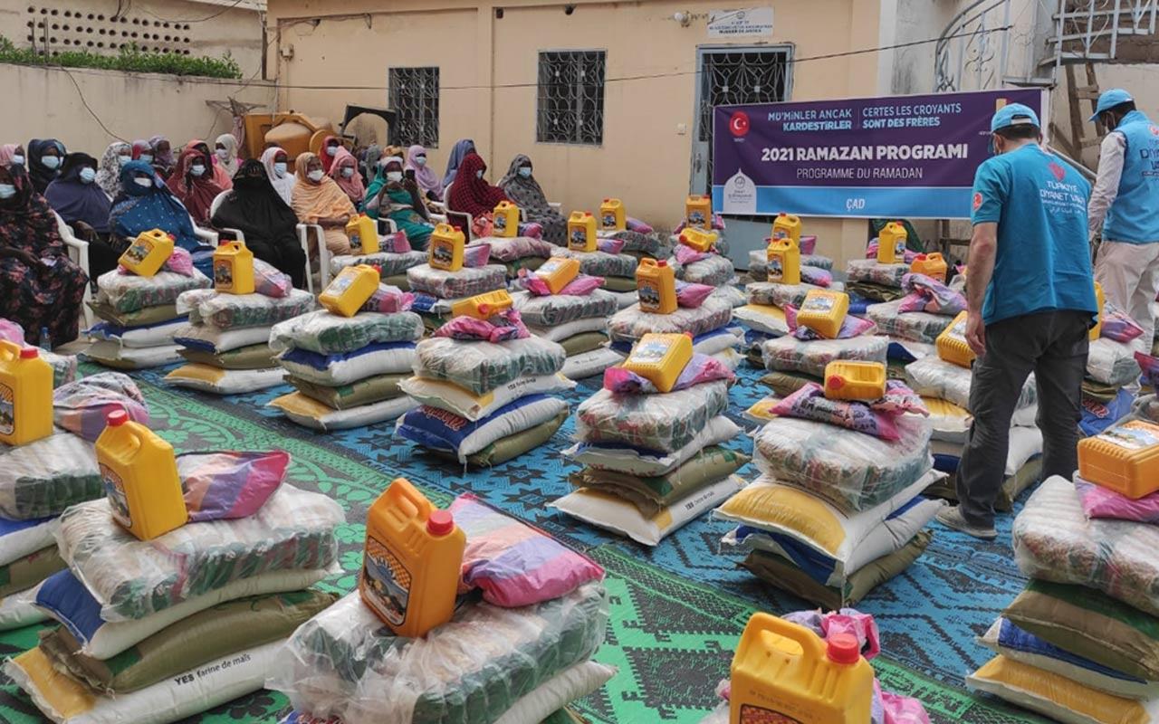Türkiye Diyanet Vakfı Çad'da Osmanlı torunlarına ramazan yardımı ulaştırdı