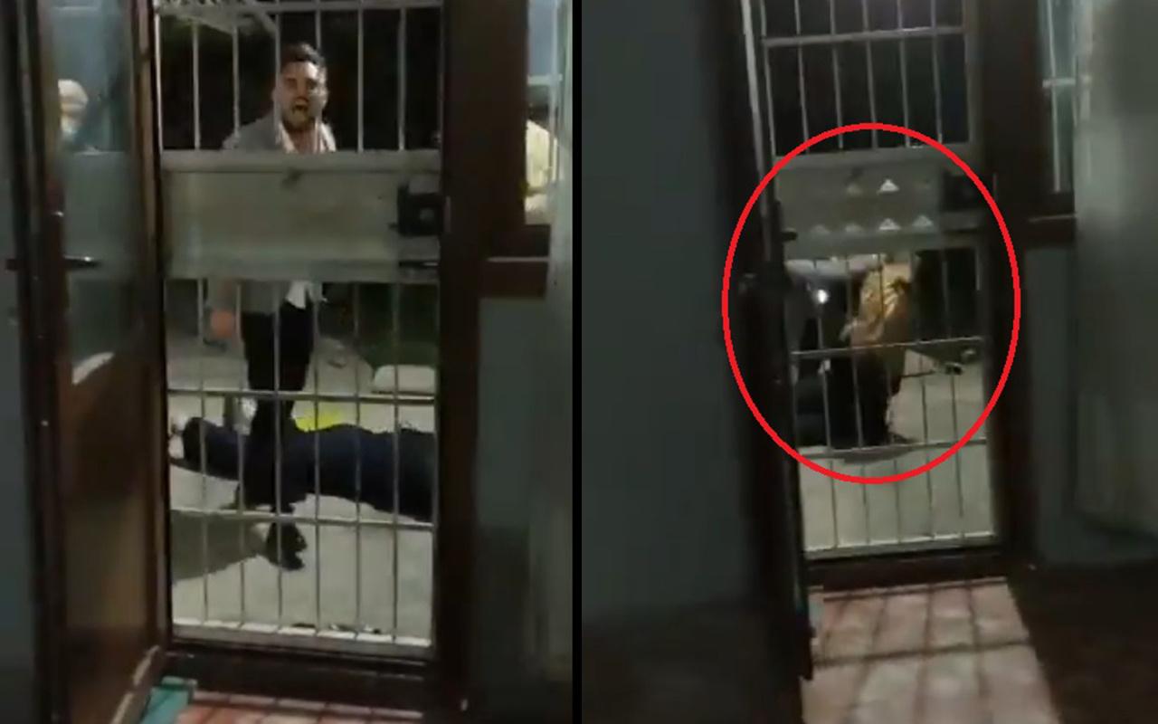 Adana'da bir şahıs yerde tekmelediği kadını dakikalarca darp etti