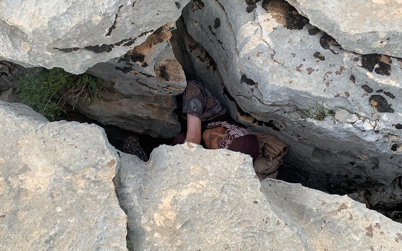 Adıyaman'da 3 gündür kayıp olan yaşlı kadın kayalıkların arasında bulundu
