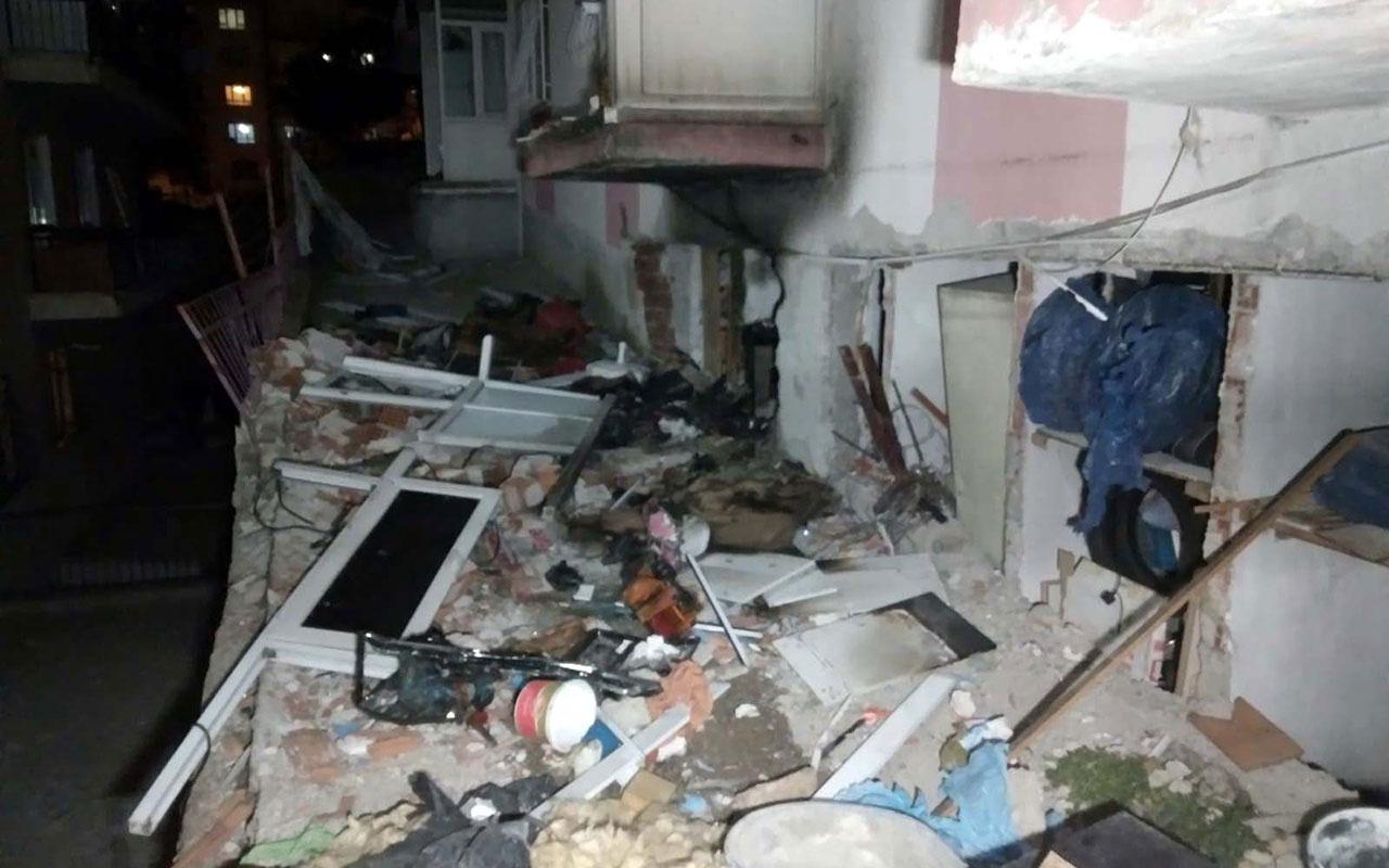 Ankara'da 2 katlı binanın kömürlüğünde patlama oldu! Elektriği yakınca gümledi