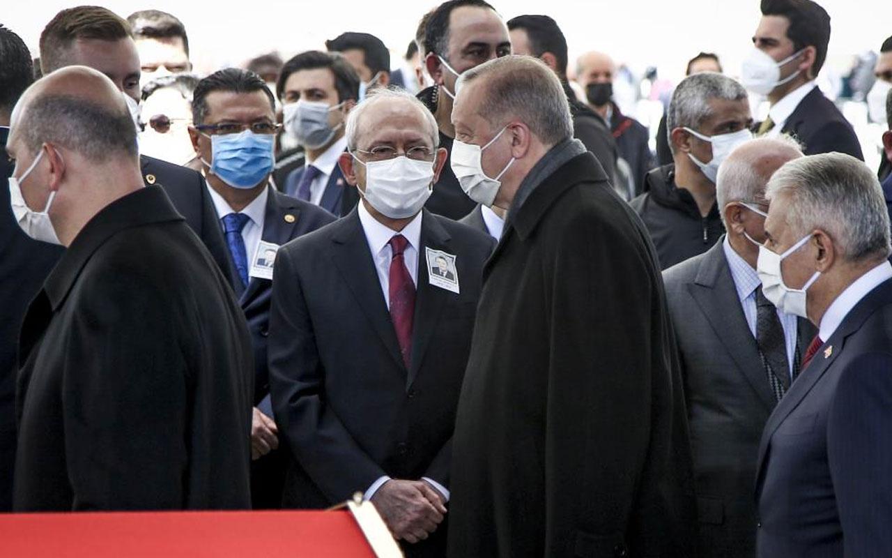Yıldırım Akbulut'un cenazesine damga vuran kare! Cumhurbaşkanı Erdoğan, Kılıçdaroğlu'nu es geçti
