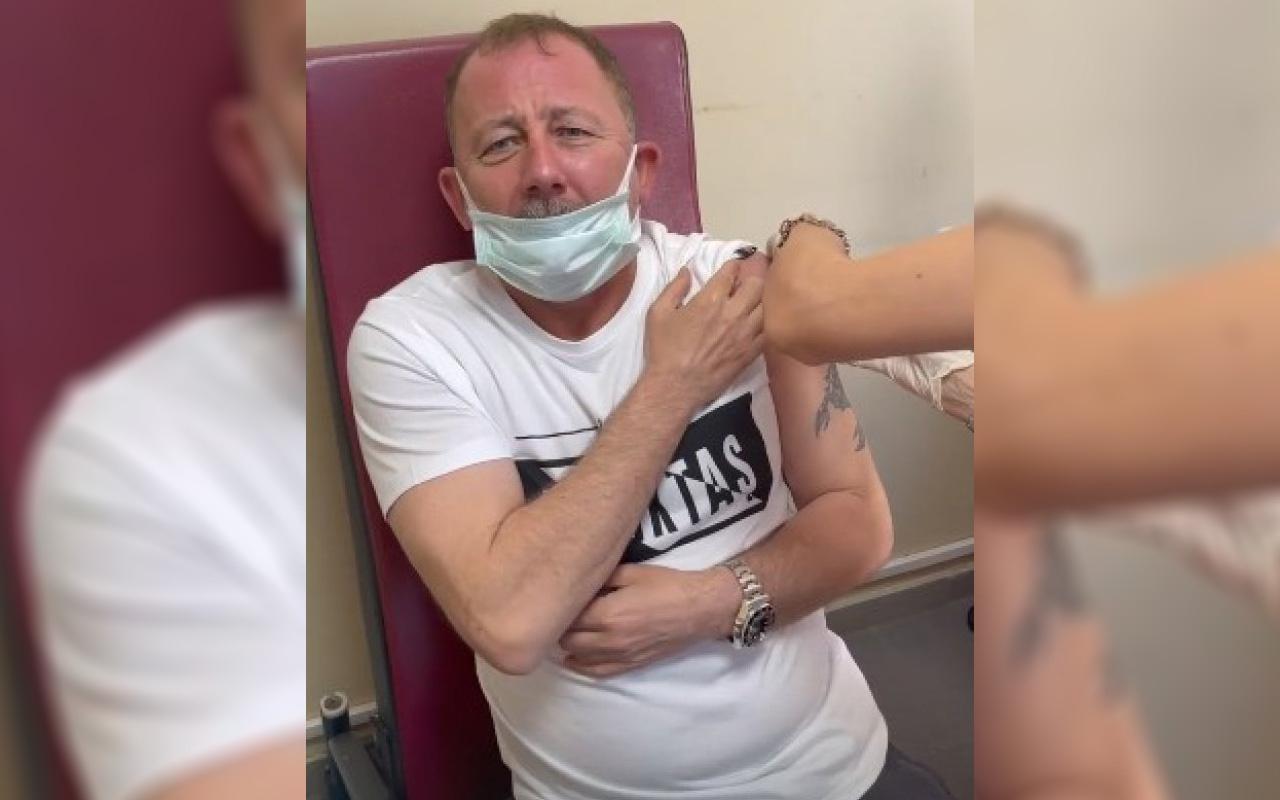 Koronavirüs aşısı olan Beşiktaş Teknik Direktörü Sergen Yalçın çığlık attı! Ah bu neymiş ya böyle