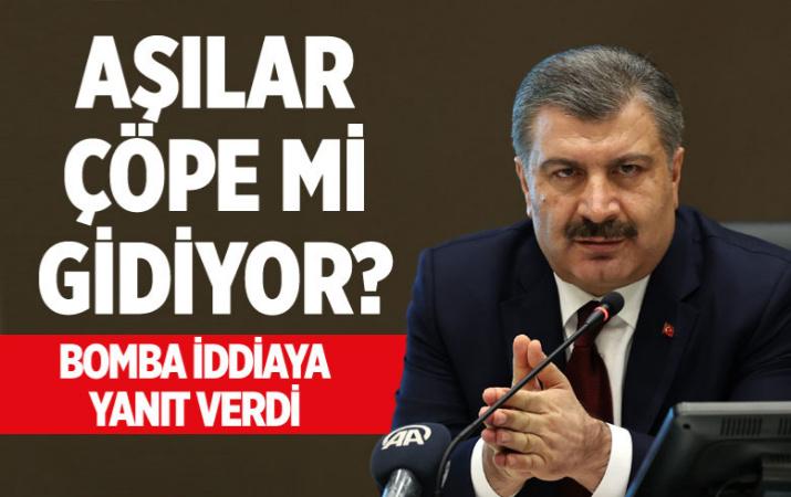 Sağlık Bakanı Fahrettin Koca: 'Aşılar çöpe gidiyor' iddiası külliyen yalan