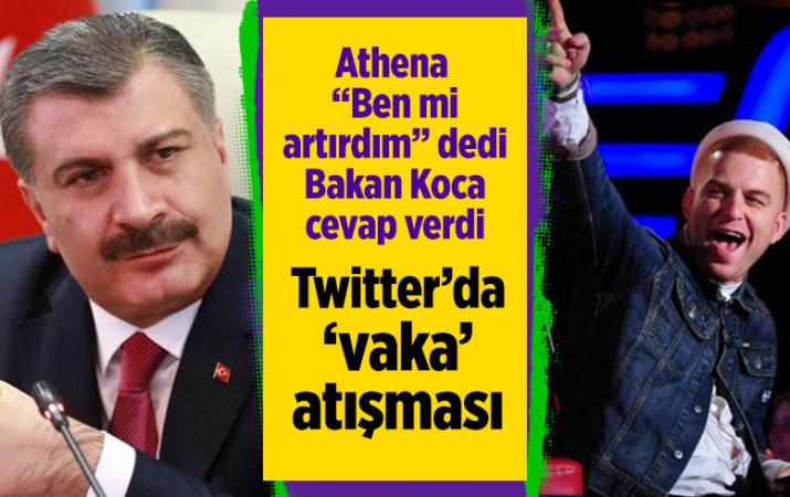 Athena Gökhan ile Sağlık Bakanı Fahrettin Koca'nın Covid-19 yazışması twitteri salladı