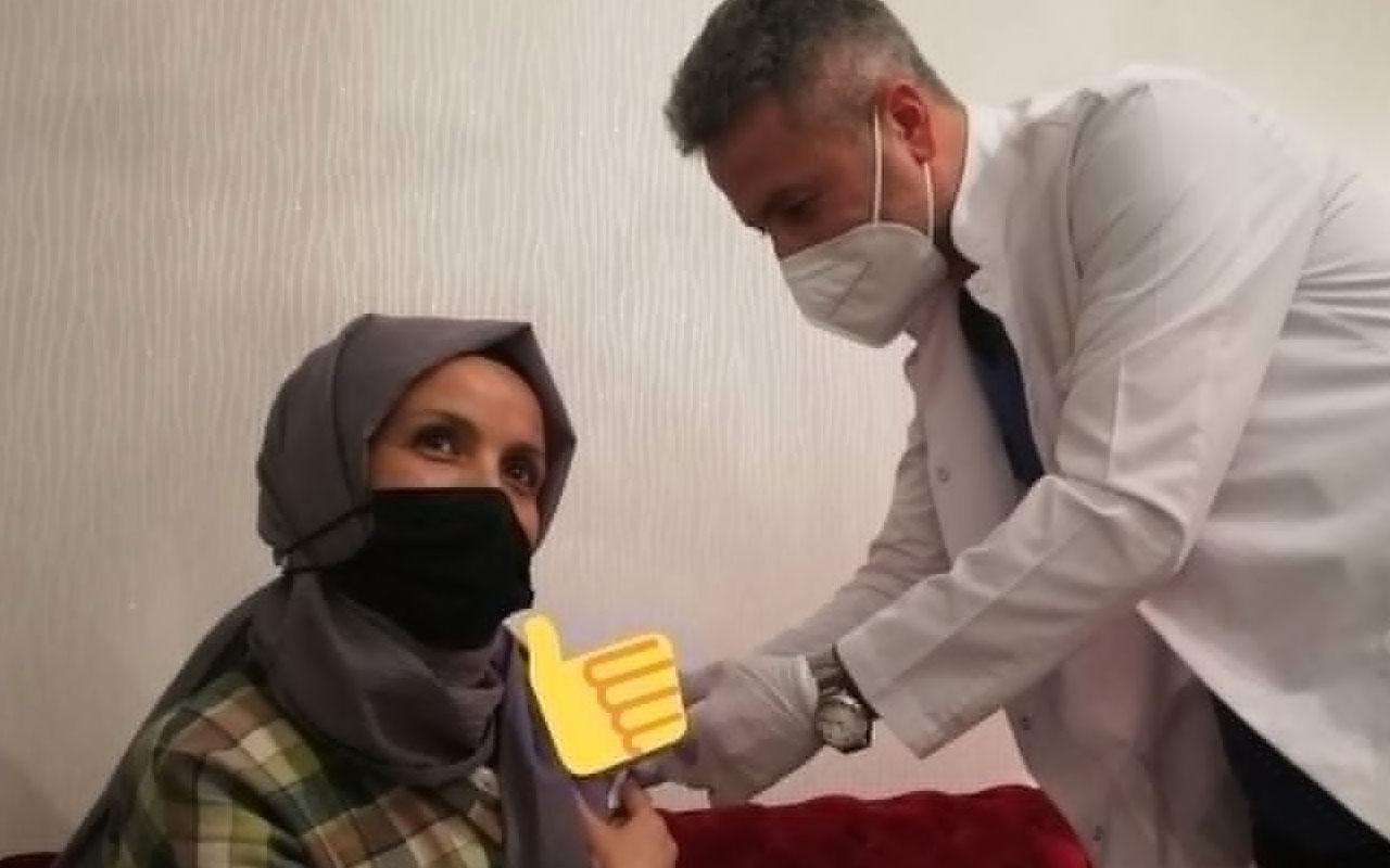 Covid-19 aşısı olmak istemeyen öğretmeni, Sağlık Bakanı Fahrettin Koca ikna etti
