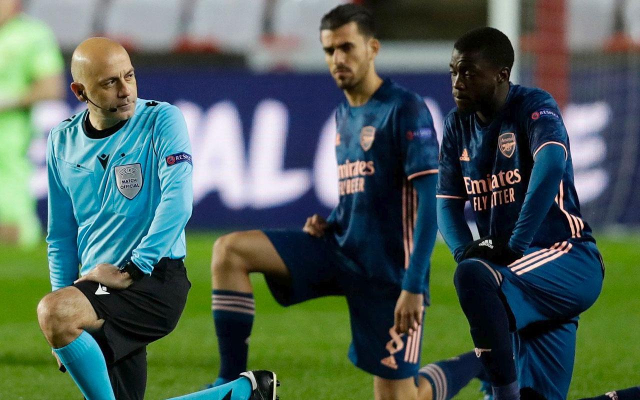 Cüneyt Çakır'ın yönettiği Slavia Prag ile Arsenal maçında büyük skandal!