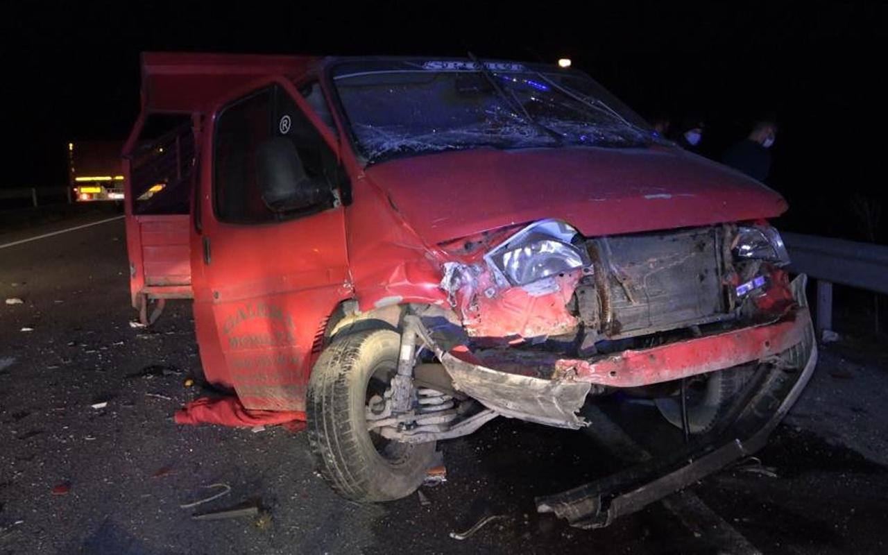 Kırıkkale'de feci kaza! Kamyon ile kamyonet çarpıştı: Ölü ve yaralılar var