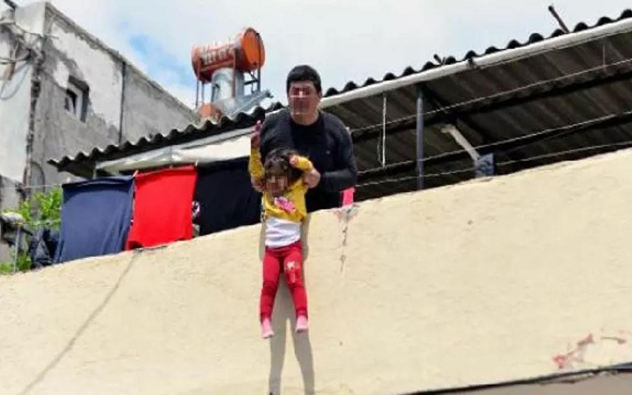 Adana'daki korkunç olay! Kızını damdan sarkıtarak atacağını söyleyen baba tutuklandı