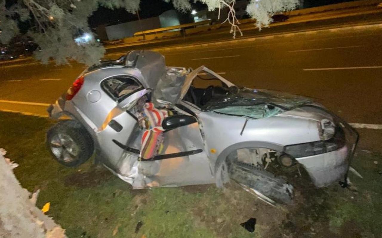 Kahramanmaraş'ta korkunç kaza! Otomobil hurdaya döndü