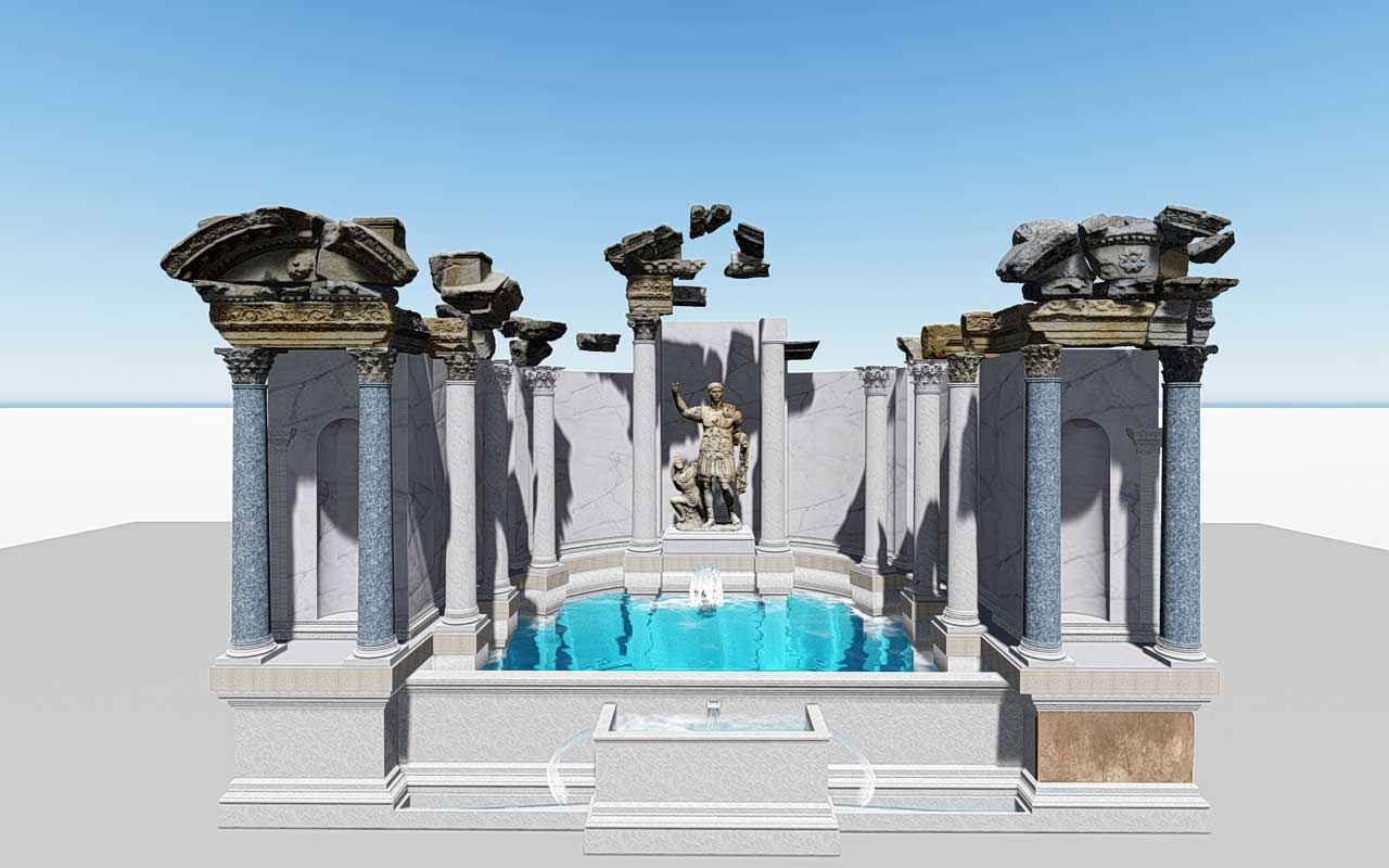 Denizli'de bulunan Laodikya Antik Kenti'ndeki 2 bin yıllık çeşme restore edilecek