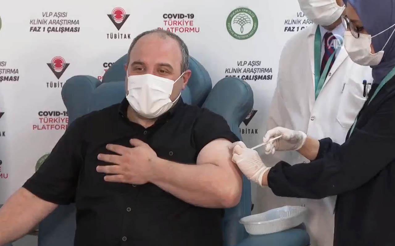 Bakan Mustafa Varank, VLP temelli yerli Covid-19 aşısının ilk dozunu yaptırdı