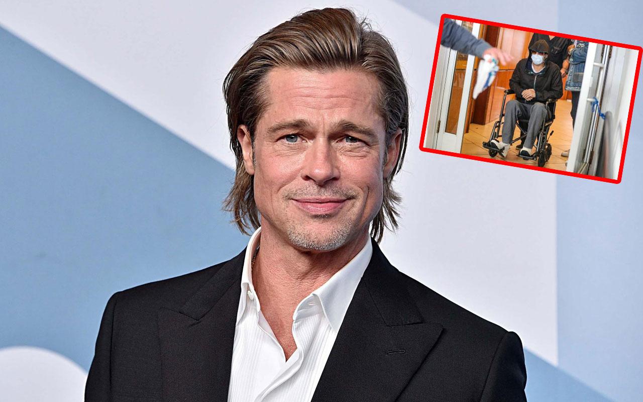 Tekerlekli sandalyedeki Brad Pitt sevenlerini korkuttu yorgun halsiz...