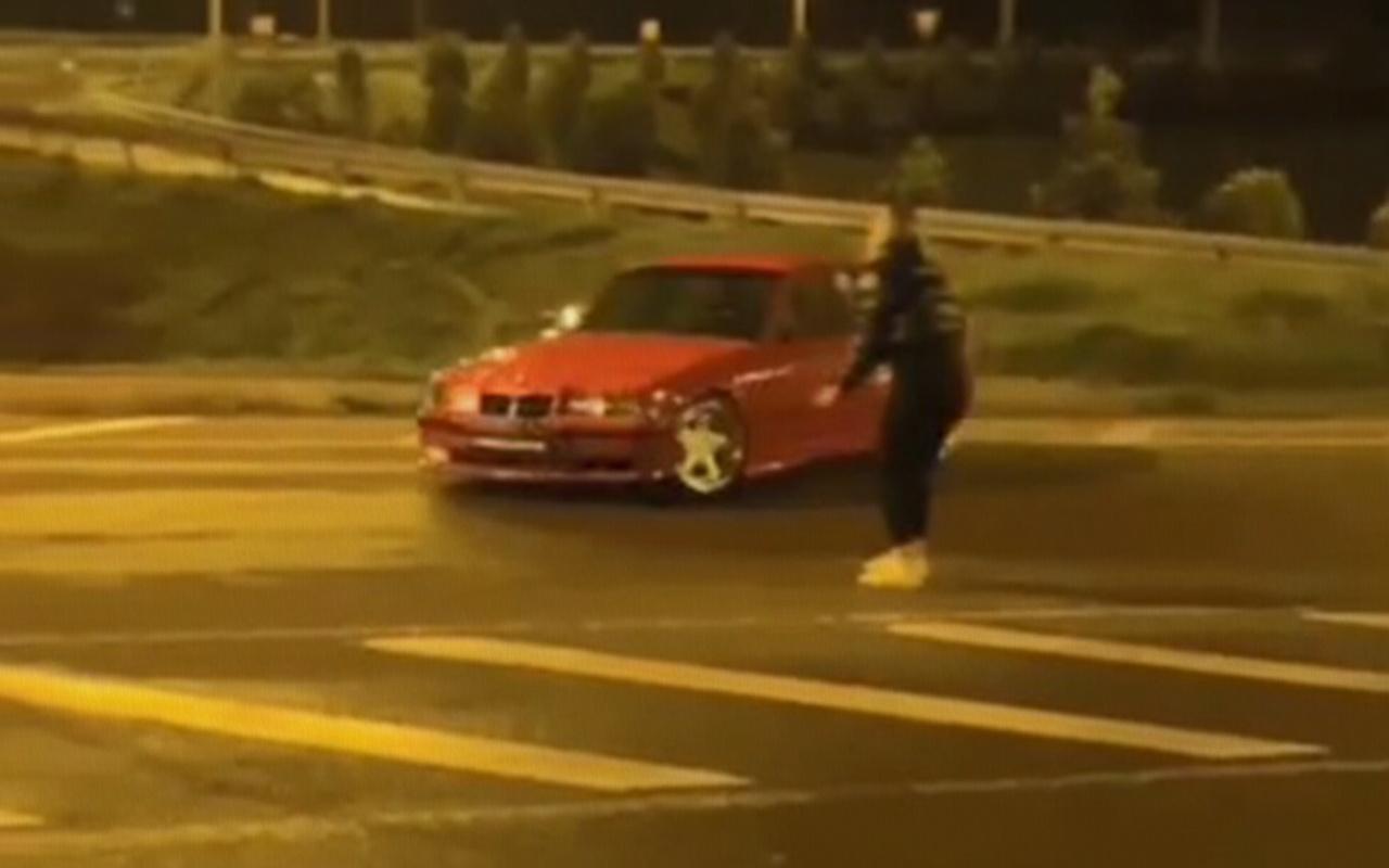 Ordu'da kısıtlama saatlerinde kız arkadaşının etrafında drift yapan sürücüye ceza
