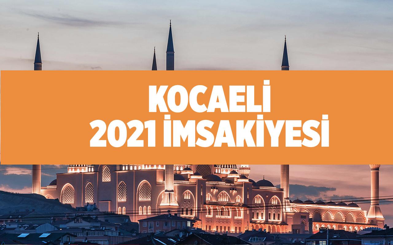 Kocaeli'de iftar bugün kaçta 2021 Diyanet iftar saati takvimi