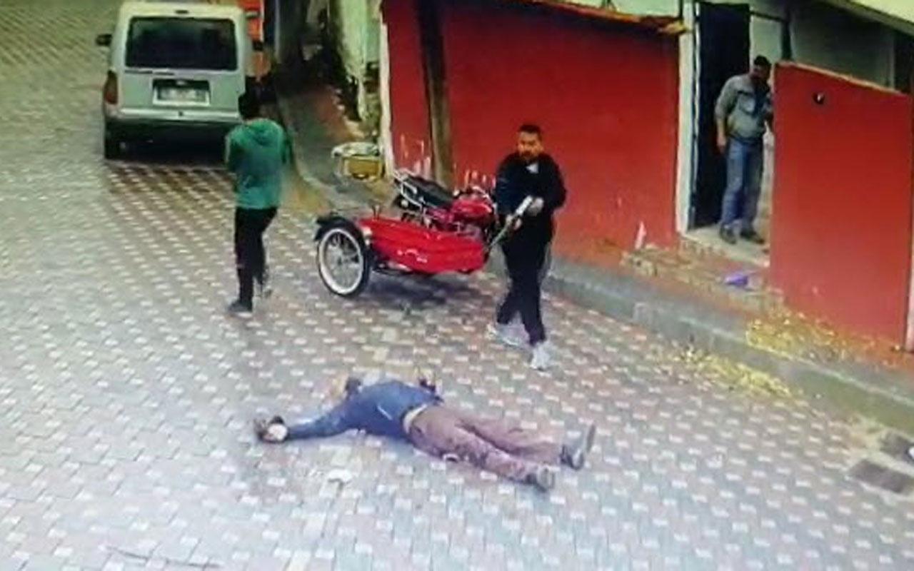 Annesinin eski eşini pompalı tüfekle öldürdü yerdeyken de ateş etti dehşet anları kamerada