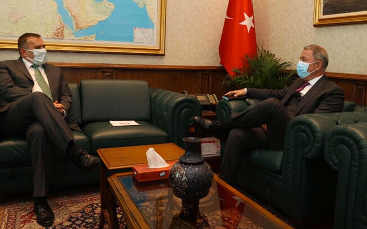 Bakan Akar, Slovenya Büyükelçisi ile bir araya geldi