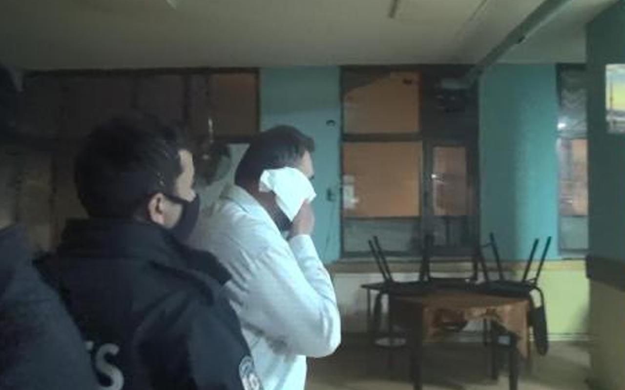 Esenyurt'ta kahvehaneye baskında ilginç anlar: Tuvalet kağıdını maske yaptı