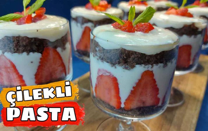 Çilekli pasta nasıl yapılır Ramazan'da vazgeçilmeziniz olacak!