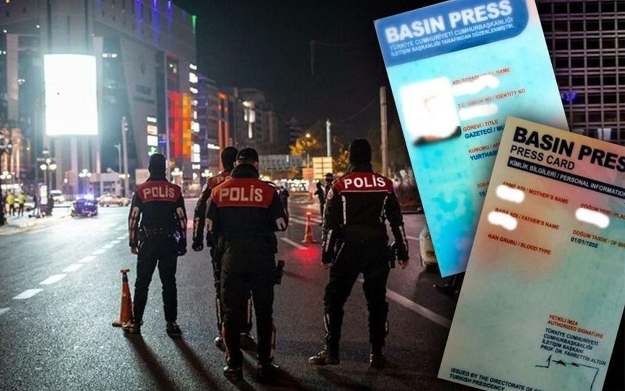 Trabzon'da sokağa çıkma yasağını sahte basın kartıyla deldiler! İşte sahte kartın fiyatı...