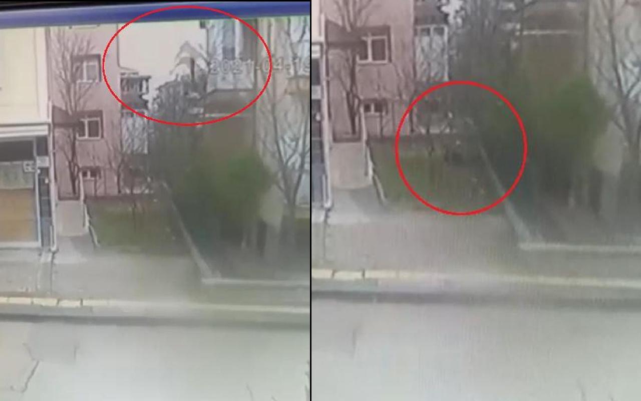 Ankara'da misafirliğe gittiği evin balkonundan yere çakıldı! İşte o anlar