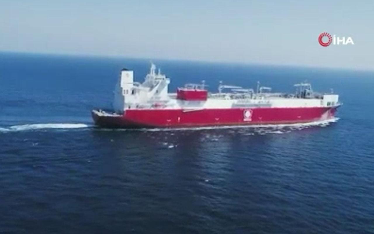 İlk yüzer LNG depolama ve gazlaştırma gemisi Ertuğrul Gazi Türkiye'ye ulaştı
