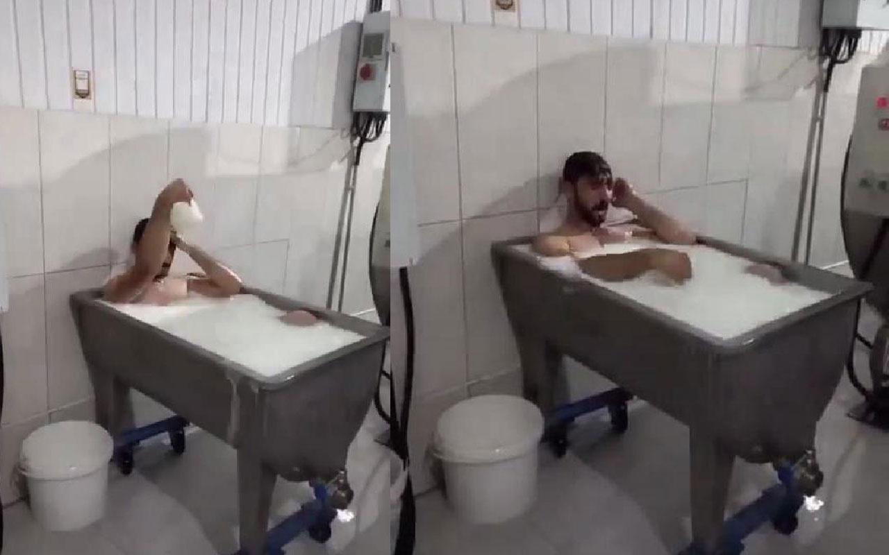 Süt kazanında banyo yapan 2 işçi hakim karşısında: Şaka için yaptık!