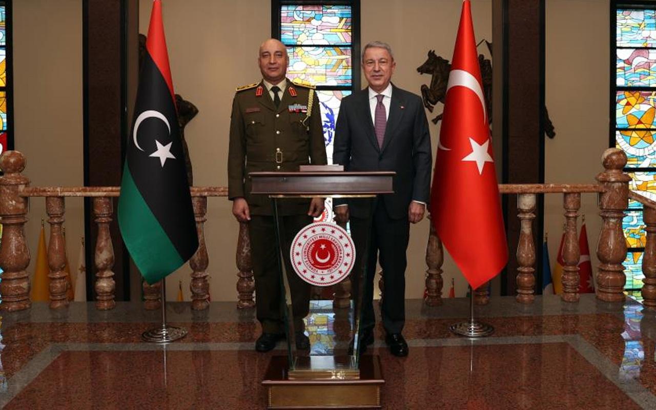 Milli Savunma Bakanı Hulusi Akar, Libya Genelkurmay Başkanı Elhadad'ı kabul etti
