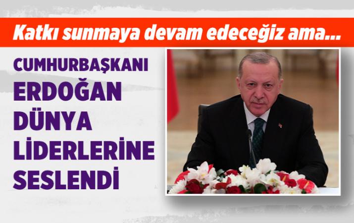 İklim Liderler Zirvesi'ne canlı bağlantıyla katılan Cumhurbaşkanı Erdoğan dünya liderlerine seslendi