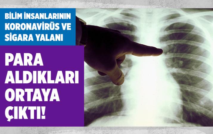 Tütün endüstrisinden para alan bilim insanlarından koronavirüs ve sigara yalanı