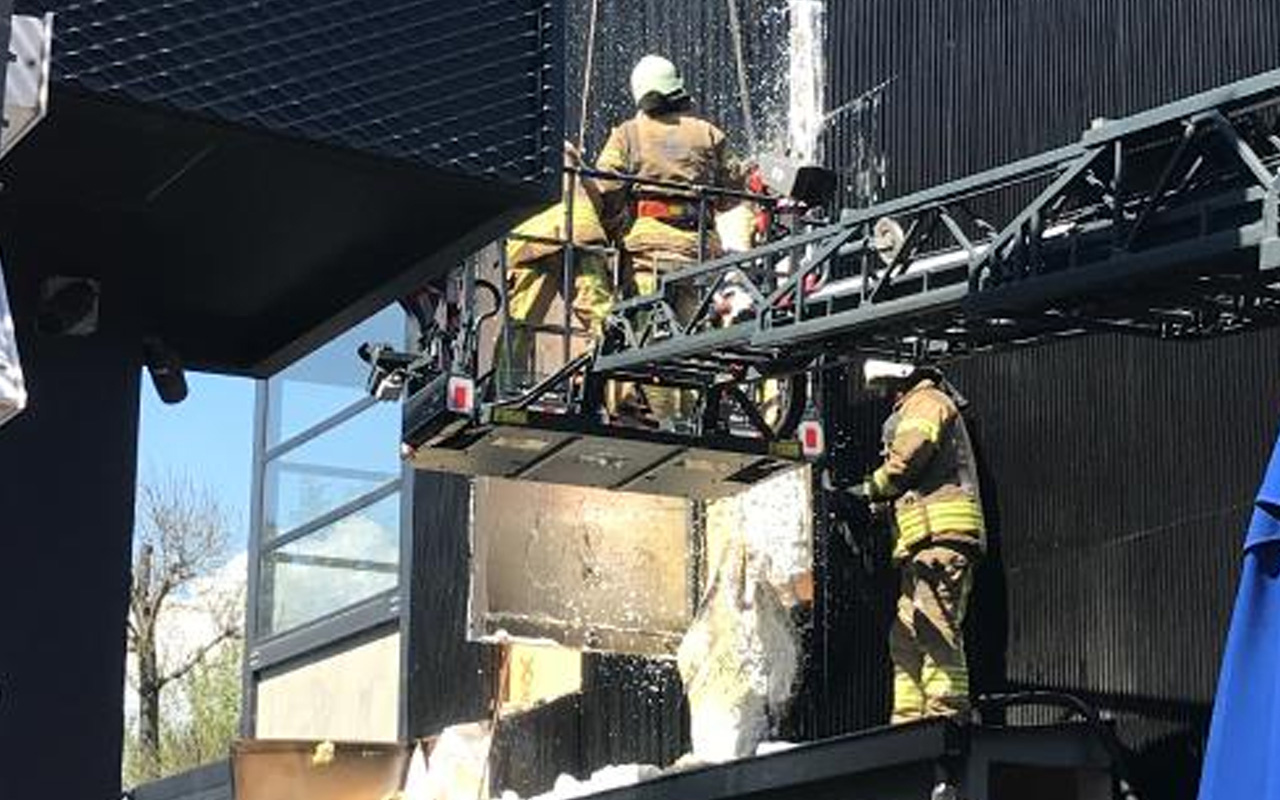 Etiler'de ünlü et restoranında yangın çıktı