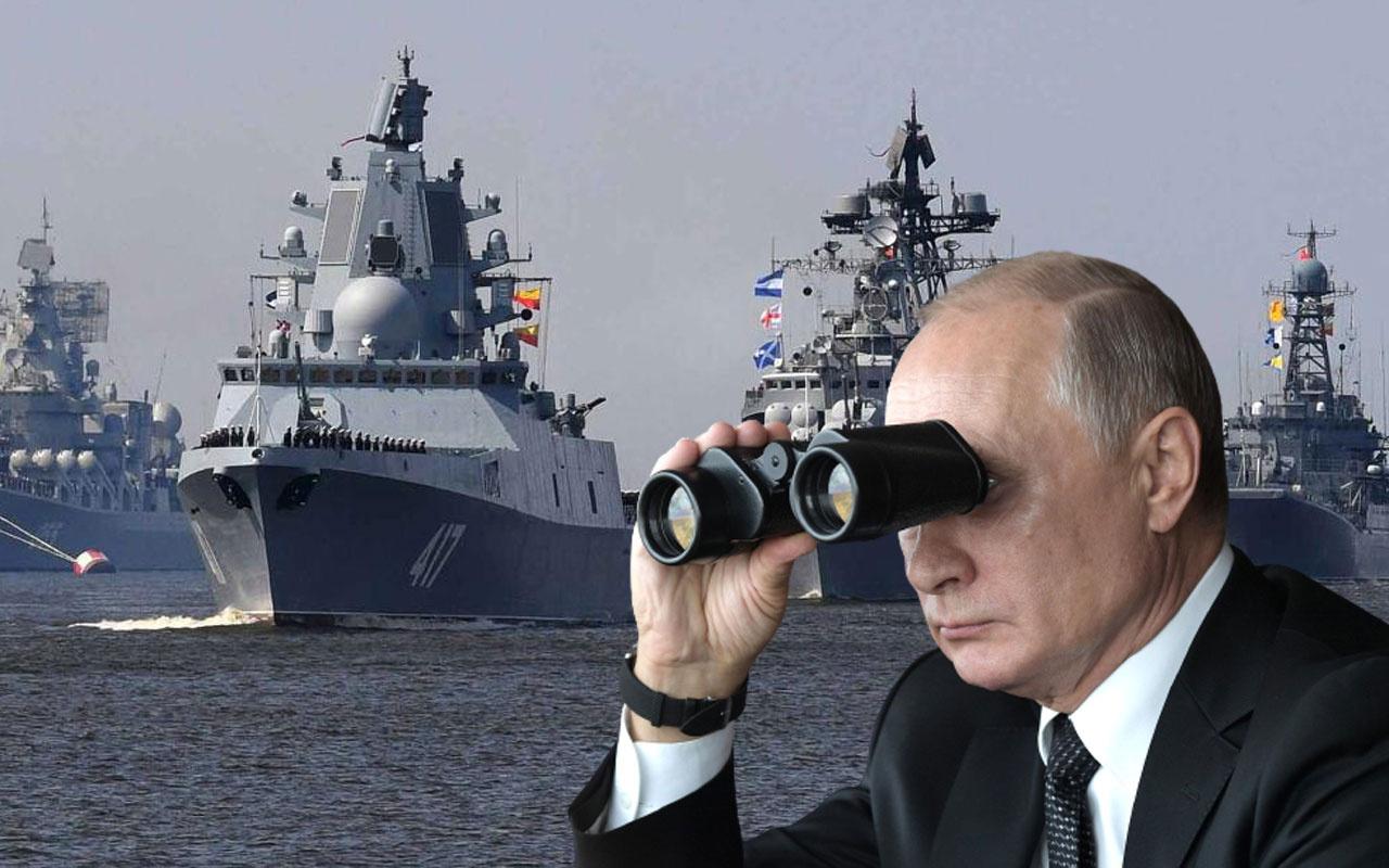 Rus donanmasından Kırım açıklarında gövde gösterisi gibi tatbikat