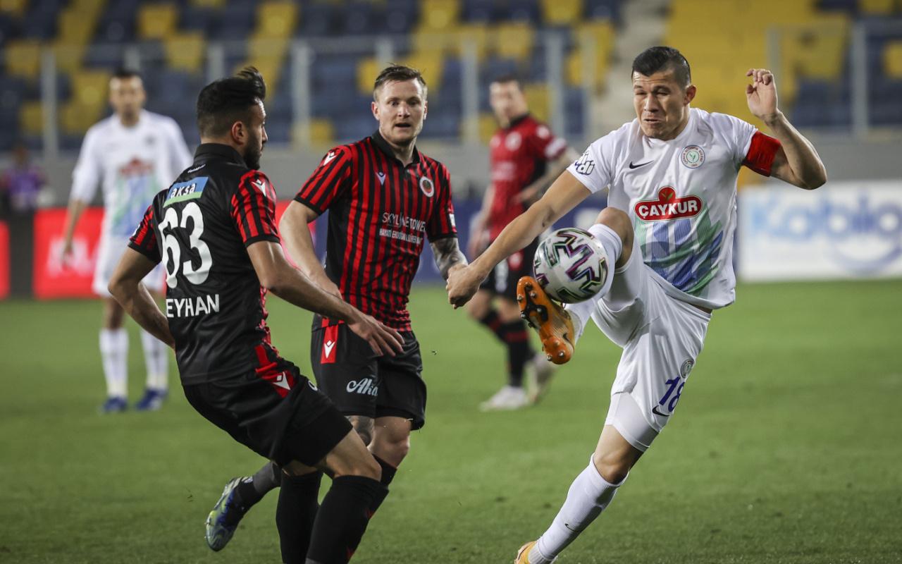 Gençlerbirliği konuk ettiği Çaykur Rizespor'u iki golle geçti