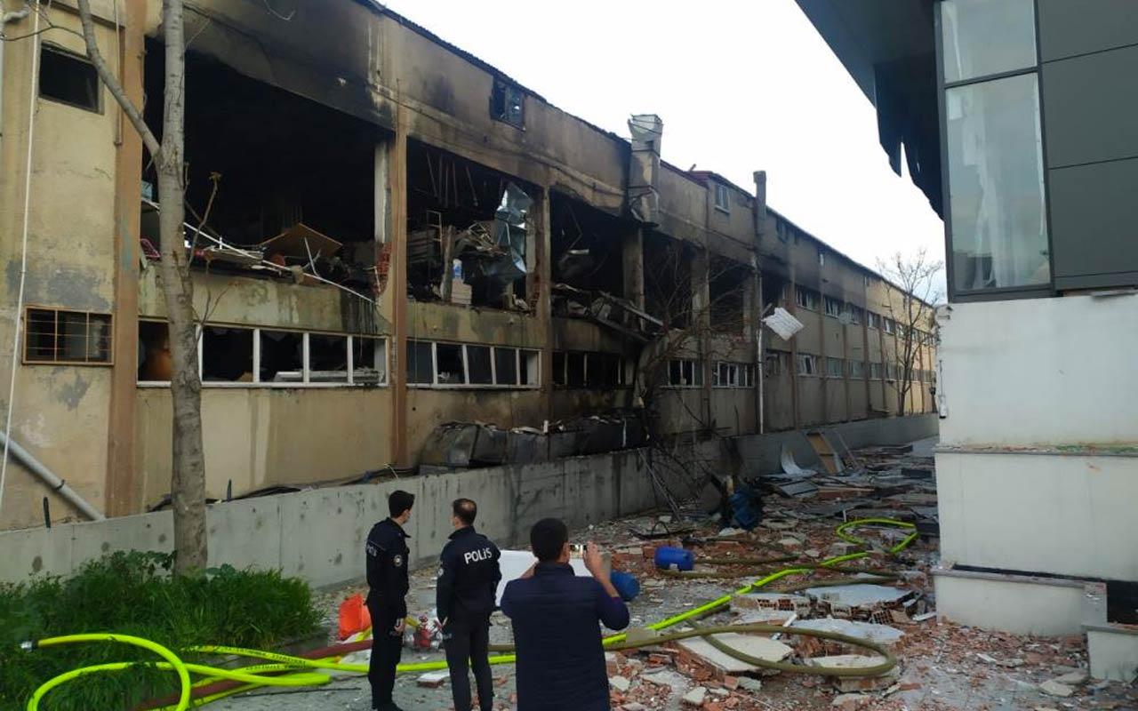 Bağcılar'da ambalaj fabrikasında patlama
