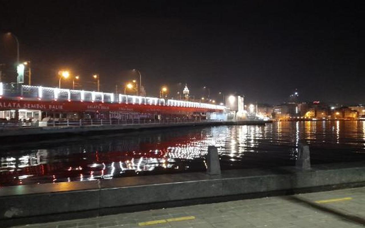 Galata Köprüsü'nden denize itilen kişi boğuldu