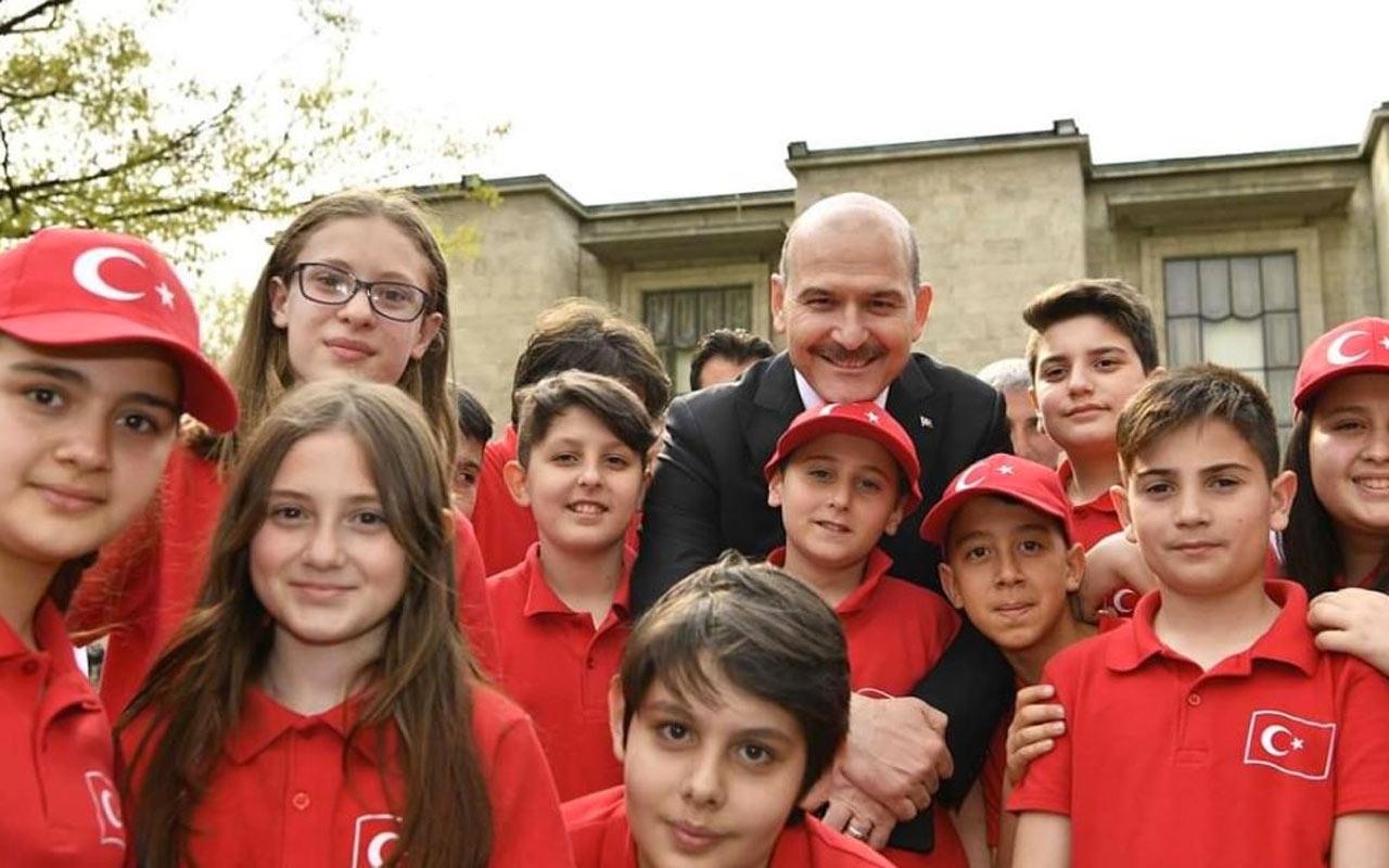 İçişleri Bakanı Süleyman Soylu'dan 23 Nisan mesajı
