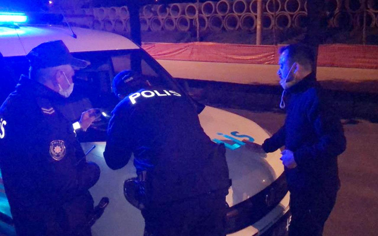 Kısıtlamayı ihlal etti ceza yazan polise söyledikleri şaşırttı