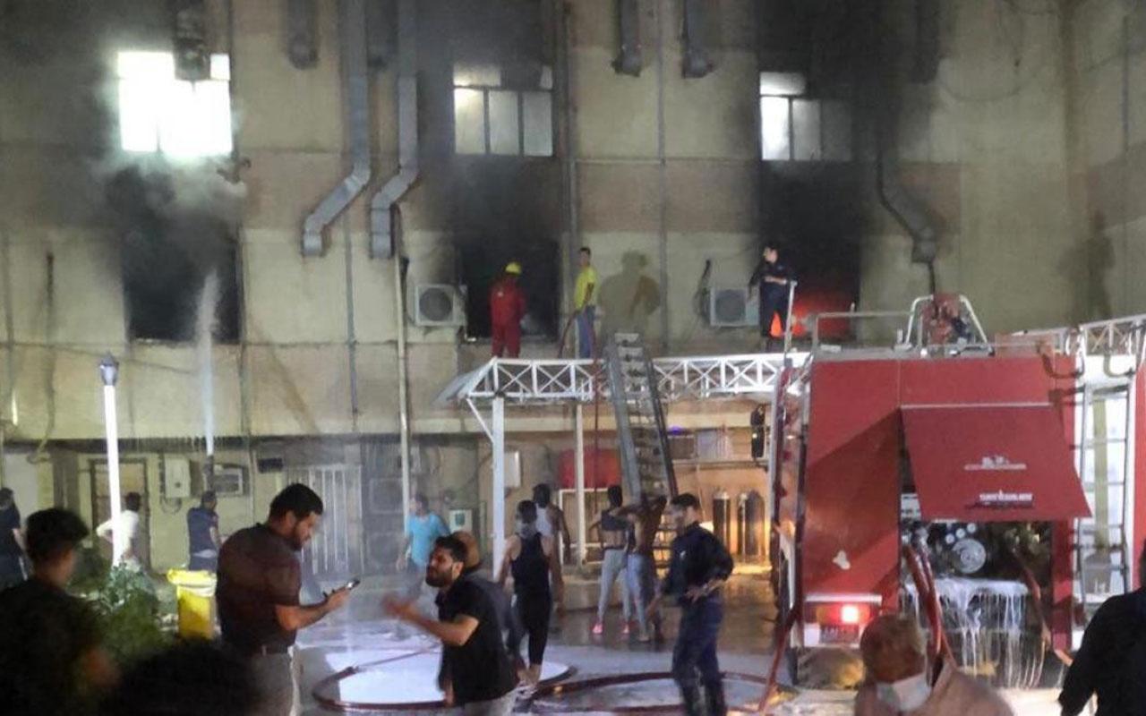 Bağdat'ta korona hastalarının kaldığı hastanede yangın faciası! 82 hasta yanarak öldü