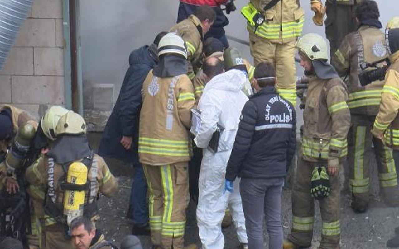 Arnavutköy'de depoda yangın! 4 kişinin cesedi bulundu