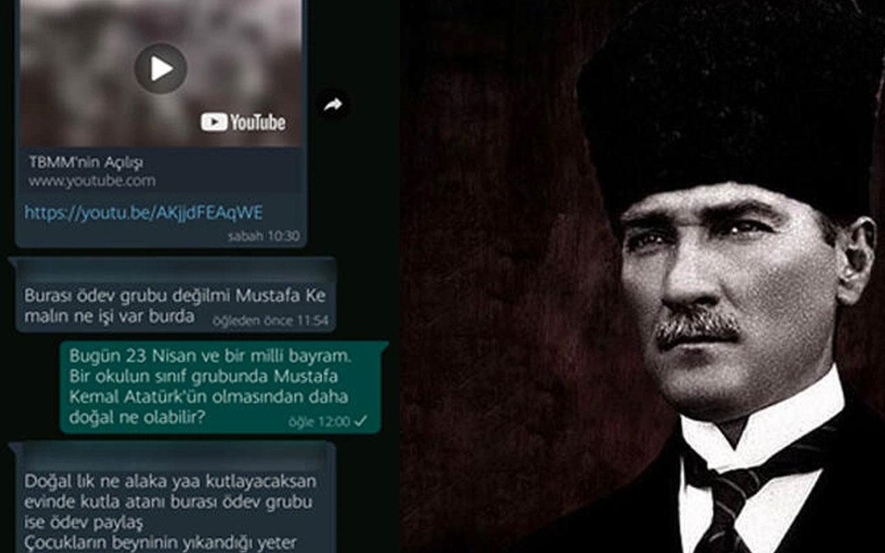 Konya'da okulun WhatsApp grubunda Atatürk'e 'mal' diyen veli gözaltına alındı